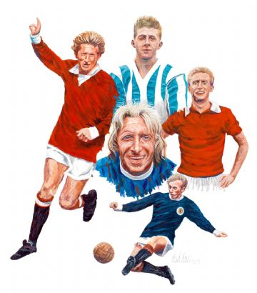Denis Law Oil Painting